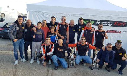 Antonio Damiani 4^ col team Sicilia sul circuito di Battipaglia