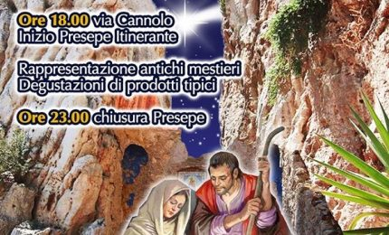 A Roccapalumba il presepe vivente il 28 e 29 dicembre