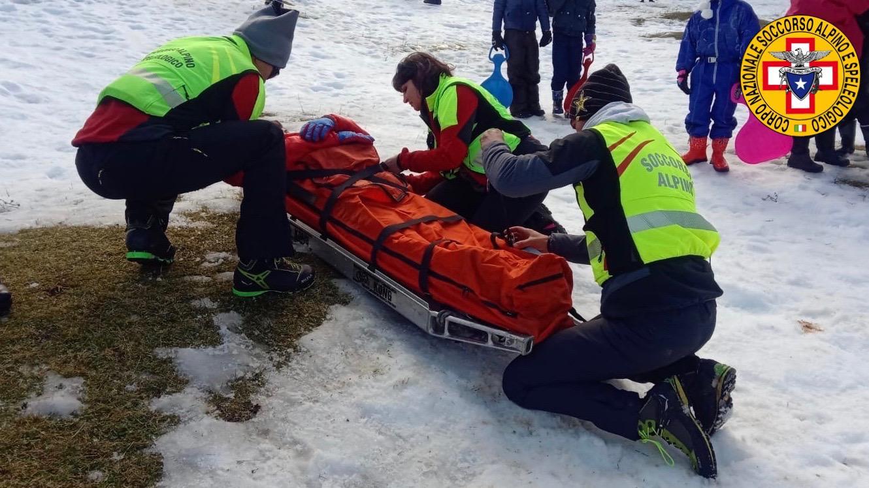 Piano Battaglia, tre incidenti causati da slittini, interviene il Soccorso Alpino