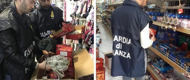 Termini Imerese: Guardia di Finanza sequestra oltre 33.000 articoli pericolosi per l'incolumità della persona