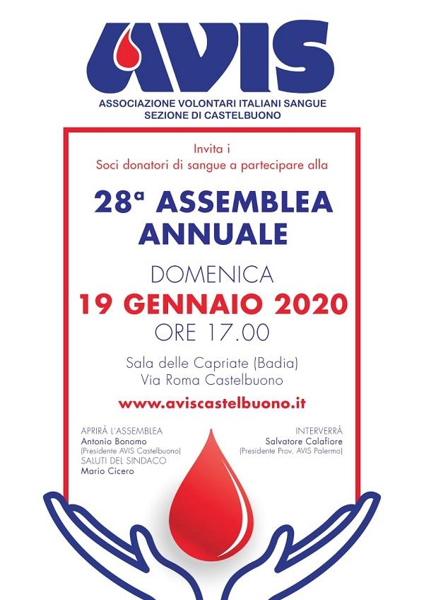 assemblea annuale dell'Avis di Castelbuono