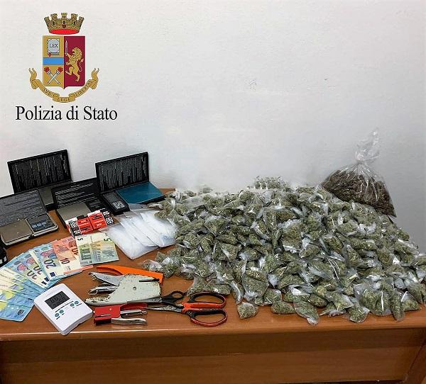 Arrestato un palermitano che nascondeva droga nella sua abitazione