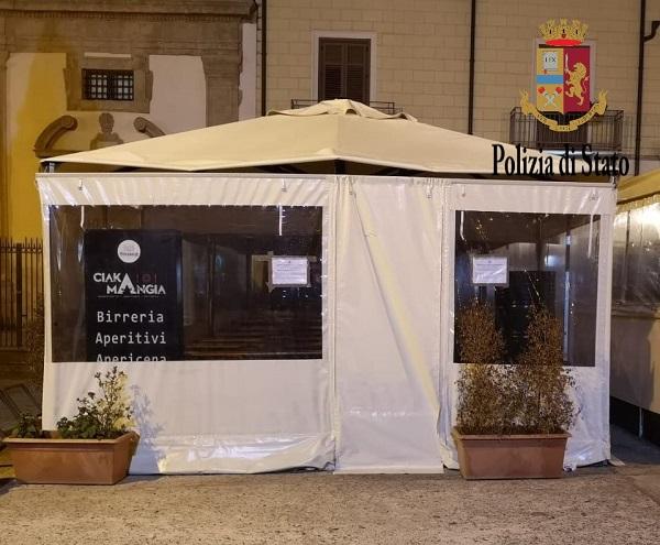 La polizia impegnata in controlli amministrativi a Palermo