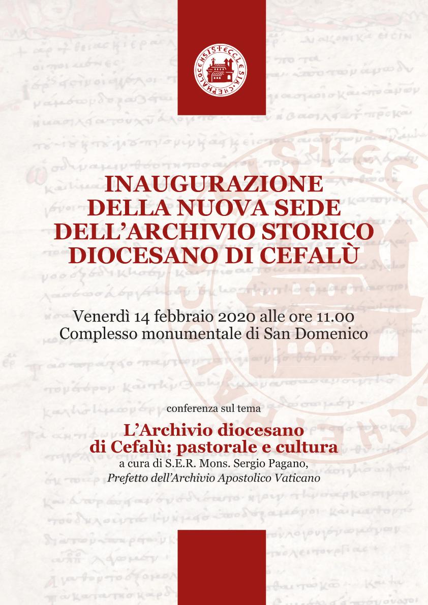 Una nuova sede per l'Archivio storico diocesano di Cefalù