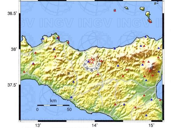 Scossa di terremoto sulle Madonie
